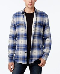 American Rag Plaid Shirt Jacket Only At Macy's Basic Navy
