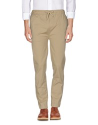 Solid Casual Pants Sand