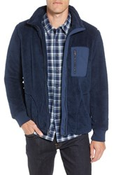 Ugg Lucas High Pile Fleece Sweater Jacket Navy
