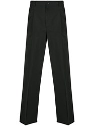 Valentino Wide Leg Logo Print Trousers Black