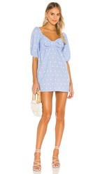 Cleobella Katherine Mini Dress In Blue. Chambray