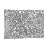 Chilewich Pressed Scribble Rectangle Placemat Silver