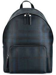 Burberry Checked Backpack Pvc Blue