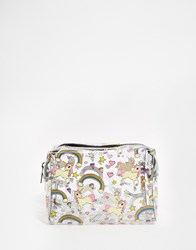 Asos Unicorn And Rainbow Clear Make Up Bag Multi