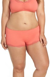Only Hearts Club Plus Size Women's Delicious Boyshorts Papaya