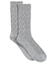Charter Club Women's Big Small Texture Socks Only At Macy's Pastel Grey