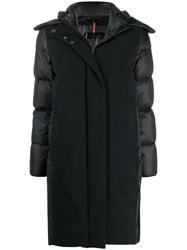 Rrd Feather Down Hooded Coat Black