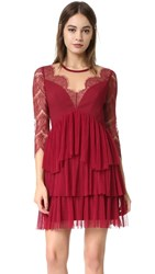 Three Floor Kiki Dress Bordeaux Nude