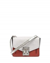 Proenza Schouler Hava Colorblock Leather Shoulder Bag White Red White Red