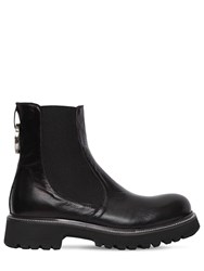 Rocco P. 30Mm Leather Beatle Boots Black