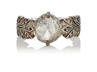 Cathy Waterman Women's Rustic Diamond Leafside Ring No Color
