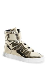 Forever 21 Radii Metallic High Top Sneakers Gold