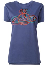 Vivienne Westwood Anglomania Logo Print T Shirt Pink Purple