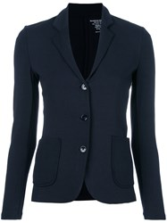 Majestic Filatures Fitted Jersey Blazer Blue