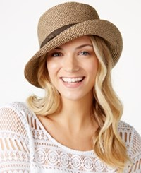 Nine West Packable Microbrim Hat Brown