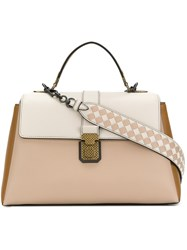 Bottega Veneta Piazza Shoulder Bag Nude And Neutrals