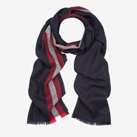 Bally Men's Wool Scarf In Blue Navy