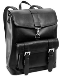Mcklein Hagen Leather Laptop Backpack Black