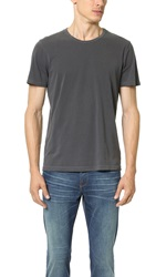 Splendid Pigment Dyed Crew Neck Tee Charcoal