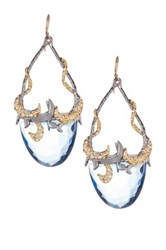 Alexis Bittar Elements Siyabona Sytnhetic Blue Topaz Teardrop Earrings Metallic