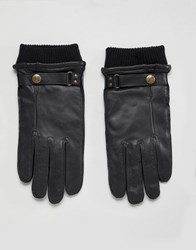 Dents Penrith Leather Gloves In Black