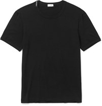 Dolce And Gabbana Slim Fit Stretch Modal Cotton Blend T Shirt Black