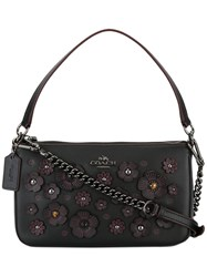 Coach Floral Embellished Tote Black