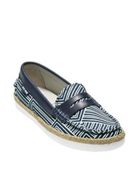 Cole Haan Pinch Weekender Penny Loafers Navy Blue