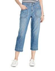 Lauren Ralph Lauren Cropped Flared Jeans Blue