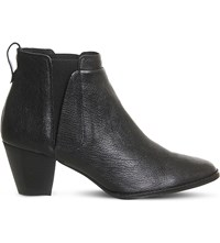 Office Binky Leather Ankle Boots Black Leather