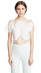 Costarellos Lace Blouse Off White
