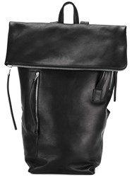 Rick Owens Flap Backpack Black