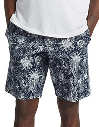 French Connection Primo Paisley Print Shorts Marine Blue