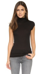 Enza Costa Tissueweight Turtleneck Black