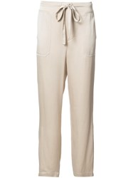Vince Straight Drawstring Track Pants Nude Neutrals