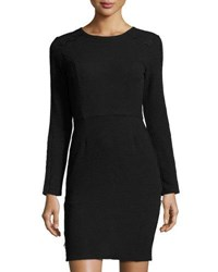 Collective Concepts Long Sleeve Lace Trim Dress Black
