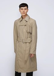 J.W.Anderson Jw Anderson 'S Wadded Trench Coat In Hemp Size 48 Polyamide Cotton Cotton
