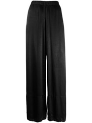 Raquel Allegra Tie Dye Wide Leg Trousers Black
