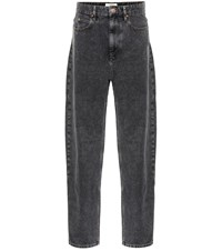 Etoile Isabel Marant Corsey High Rise Straight Jeans Black
