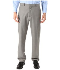 Perry Ellis Solid Texture Flat Front Suit Pants Brushed Nickel Men's Casual Pants Silver