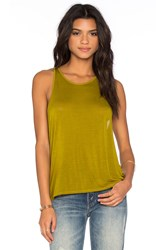 Enza Costa Cropped Sheath Tank Green