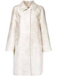 Alberta Ferretti High Shine Coat Metallic