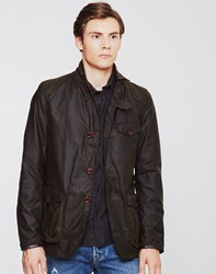 Barbour Beacon Sports Jacket Olive Green