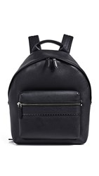 Salvatore Ferragamo Firenze Studded Leather Backpack Black