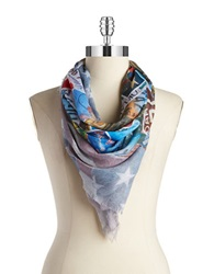 Collection 18 Us Destinations Scarf Multi Colored