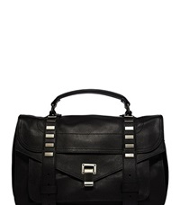 Proenza Schouler Ps1 M Studded Leather Bag Black