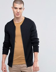 Selected Homme Ribbed Cardigan Black