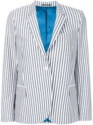 Paul Smith Ps By Striped Blazer Grey