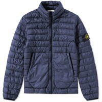 Stone Island Garment Dyed Micro Down Jacket Blue