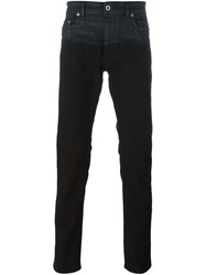Diesel Black Gold Bicolour Jeans Black